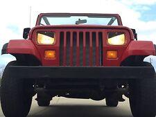 87-96 Jeep Wrangler YJ, XJ & Cherokee Angry Eyes Mad Headlight Decal V2 BAD BOY!