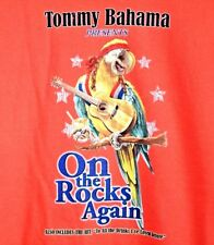 Tommy Bahama Orange Parrot On The Rocks Cocktail Guitar Playin T-Shirt Size XXL