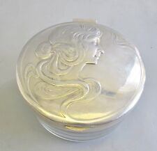 Antique Signed WMF Silver Lidded Dresser Box  c. 1900  Art Nouveau Vase