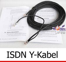 Y-cavo 10 metri 10m per USB DSL modem ISDN AVM FRITZ! CARD 2.0 Y-Cable