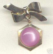 Dangle PIN ~ Bow & Lilac Cabochon Bead