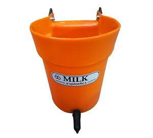 Calf Milk Bucket Feeder - One Teat - Hanging Gate/Rail Milk Feeder - Durable.