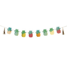 Tropical Fiesta Pineapple Birthday Party Bunting