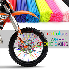 72PCs Bike Wheel Spoke Wraps Skins Coat Trim Tube Cover Pipe Motocross Pit Dirt