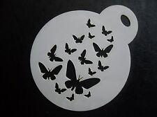 Corte láser pequeño desvanecimiento Mariposas Diseño Cookie, Craft & Plantilla de Pintura de cara