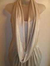 bebe XXS Dress Drape Front Sparkle Metallic Silver Ivory Shiny Cowl Party CHIC