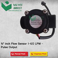 "3/4"" inch Flow Sensor 1-60 LPM - Pulse Output-Suitable for WaterMe Controller"