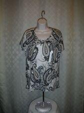 Short Sleeve V Neck Women's T-Shirts XXL,XL,L,M,Croft & Barrow 100% cotton