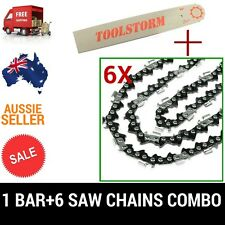 "12"" BAR & 6 CHAINS COMBO 3/8""LP 050 45DL FOR OZITO CHAINSAW PCS-305A 25.4CC"