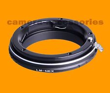 Leica M LM Lens to Sony NEX camera camcorder E-mount adapter converter ring