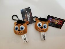 Lot of 2 Funko Five Nights At Freddys Plush Bag Backpack Clip Keychain  ~ NEW