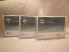 HP C5706A + C5707A LOTTO 3 NASTRI DAT DDS DATI 2X8GB + 1X4GB NUOVI SIGILLATI