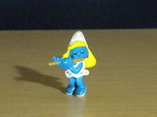 Smurfette Flute Player Vintage Smurfs Music Figure Rare Smurf PVC Toy Lot 20204