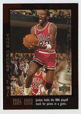 Michael Jordan 1999 Upper Deck MJ RECORD BOOKS NBA Playoff Mark Basketball Card