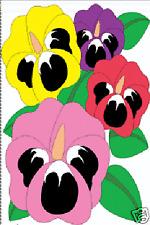 Pansies Garden Size Flag Tg 54033