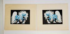 Spirit Horse 2 Matching Serigraph Woody Crumbo Potawatomi Native American Prints