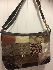 Coach 12842  Fall Patchwork Duffle Handbag 16X11X4 Extra Large