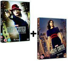 MARVEL'S AGENT CARTER 1+2 2015-2016 Hayley Atwell TV Season Series R2 DVD not US