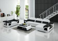 Leather Sofa Interior Design Corner + Armchair Set Modern G8010F