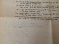 SHELLEY MANN 1956 US OLYMPIC SWIMMING GOLD MEDALIST 1959 autograph BUTTERFLY
