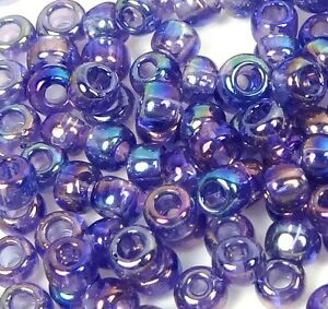 6/0 Japanese TOHO Glass Seed Round Beads - Transparent-Rainbow Sugar Plum (200)