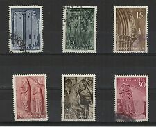 Yougoslavie 1956 l'Art Yougoslave 6 timbres oblitérés / T2055