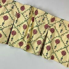 IntraScapes Yellow Valance Pink Topiaries Cotton Contrasting Plaid Buttons 50X15