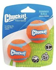 Chuckit! 2 Pack Tennis Balls Small, Durable Rubber Fits Launcher Fetch Dog Toy