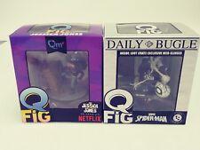 Marvel Comics Lot Of 2 Spiderman QFig. Jessica Jones Loot Crate  NIB