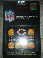 NEW Chicago Bears Pumpkin carving stencil kit 6 sheets NFL football