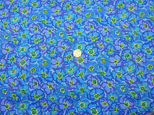 Quilting fabric Flores Azul Turquesa Con Amarillo 100% Algodón Cuarto Gordo BLP2
