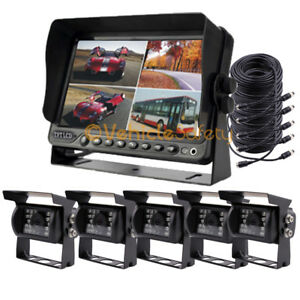 """7"""" Monitor Car DVR Recorder 5 x Backup Camera Rear View Camera System for Truck"""