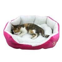Puppy Pet Dog Cat Fleece Cozy Warm Bed Flannel Soft Cotten House Nest Mat Pad LS