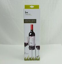 Picnic Stix Set, True Fabrications - Chrome Stakes For 2 Wine Glasses & Bottle