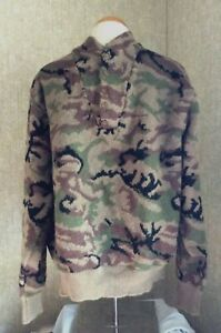 King of the Mountain   Wool Camo Sweater  Omnitherm    Large   VERY RARE