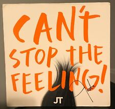 "Justin Timberlake signed Can't Stop the Feeling 12"" lp"