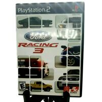 Ford Racing 3 Sony PlayStation 2 PS2 Complete Game Case And Manual Black Label