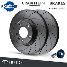 Fit Audi A6 A7 A8 10- Drilled & Grooved Brake Discs Rear 356mm Fast Road Upgrade