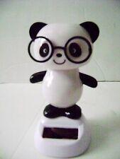 Solar Powered Dancing Panda Bear Bobble Head Wearing Glasses
