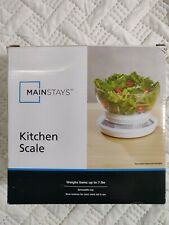 Mainstays Kitchen Scale Weighs up to 7 lbs new