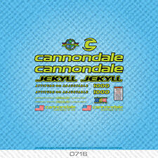 Cannondale Jekyll 1000 Bicycle Decals - Transfers - Stickers - Green - Set 0716