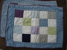 Pottery Barn Pillow Shams (2) Quilted Patchwork