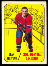 1967-68 TOPPS HOCKEY #74 JEAN BELIVEAU EX+ Cond MONTREAL CANADIENS CARD