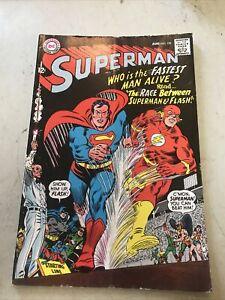 Superman #199 1st Superman Flash Race - Fastest Man Alive