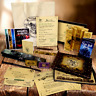 Personalised Harry Potter Hogwarts MAGIC GIFT SET Marauders Map Wand Quill Spell