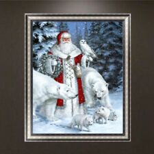DIY 5D Diamond Embroidery Santa Claus Painting Cross Stitch Art Craft Home Decor
