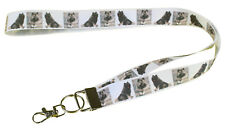 More details for keeshond breed of dog lanyard key card holder perfect gift
