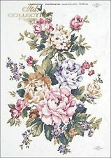 Reispapier-Motiv Strohseide-Decoupage-Vintage-Shabby-Blumen-Flowers-R0376