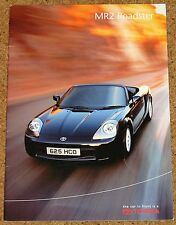 2000 TOYOTA MR2 ROADSTER UK Sales Brochure inc Accessories, Colours