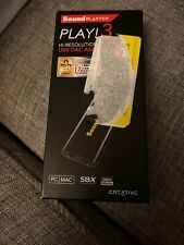 Creative Labs Sound Blaster Play! 3 External USB Sound Adapter Open Box